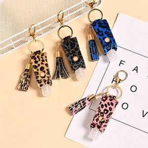 30ml Portable Hand Sanitizer Bottle Keychain Holder Cleanser Cosmetic Container Removable Travel Cover 13 colors new