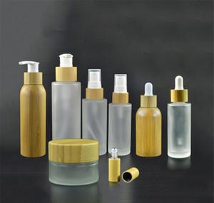 100 x 10ml Roller Garrafas, 70 x 100ml Bambu de vidro fosco e Bottl White Spray Jllszp Xhhair
