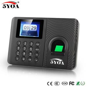 5YOA A10 биометрических рабочего время Системы Часы Recorder Recognition Сотрудник устройство Электронные Английские машины