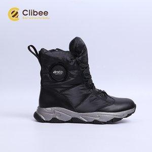 Clibee Erkek Kız Açık Kar Botları Kış Su Geçirmez Kayma Dayanıklı Soğuk Hava Ayakkabı Çocuk Sıcak Yürüyüş Trekking Ayakkabı 201113