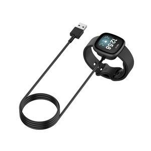محطة قفص الاتهام شاحن محول USB شحن الحبل قاعدة سلك ل فيتبيت تحسس / فيرسا 3 ساعة ذكية Versa3 الذكية ووتش