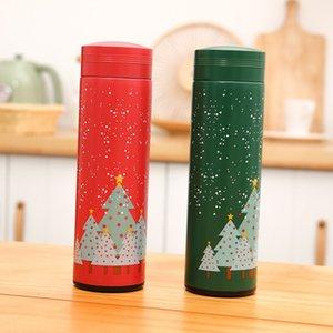 17 onças Atacado garrafa Árvore de Natal verde Água Vermelha dos desenhos animados promocional de Natal do escritório ao ar livre portátil Bottle estanques Água