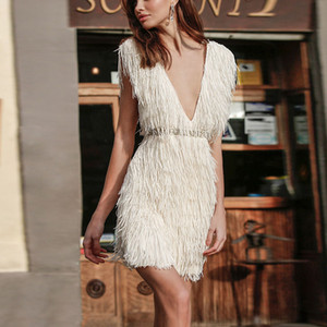 Party Dress Women Deep V Sexy Plush Sling Fishtail Dress Collect Waist Summer Dresses Fashion Elegant Evening Dresses