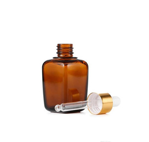 Amber Glass Essential Oil Bottle E Liquid Square Dropper Bottles 10ml 20ml 30ml jllyjq lucky2005