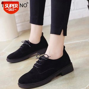 TINO KINO Women Autumn Retro Low Heel Shoes Lace Up Suede Female Shoes Comfortable Elegant Ladies Fashion Classic Footwear #vy6J