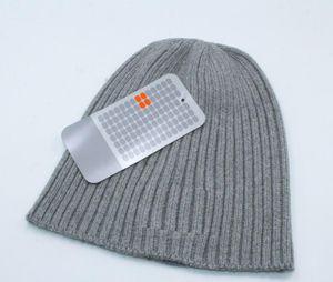 autumn winter man beanie black greyCool fashion hats woman Knitting hat Unisex warm hat classic cap Brand knitted hat free shipping