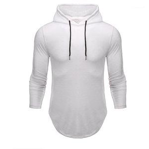 Hooded Long Sleeve Slim Hoodies Neue Designer Sport Herren Kleidung 21FW Mode Soild Color Mens Sweatshirts