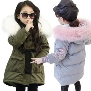 Baby Girl Warm Coat Down Jackets Children Clothing NEW Girl Winter Cotton-Padded Jacket Children's Fashion Coat Kids Outerwear 201104