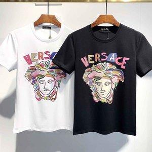 20SS Men's Women's Summer Street T-shirt Fashion Designer Letter Print Short Sleeve Casual Pure Color T-shirt T-shirt