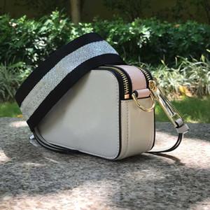 Top 2020 Zipper Messenger Donne Borsa a tracolla donna Signore 1 Designer di lusso Designer Famoso marchio Marc Bag The Small Snapshot Camera Crossbody Bag