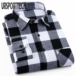 100% хлопчатобумажные мужские клетки Фланелевые рубашки Slim Fit Мужской повседневная с длинным рукавом рубашка мягкая удобная дышащая высокое качество человека рубашки1