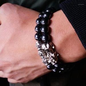 Feng Shui Magnetic Hematite Stretch Beads Bracelet Men Women Unisex Wristband Pixiu Wealth and Good Luck Pi Yao Black Bracelet1