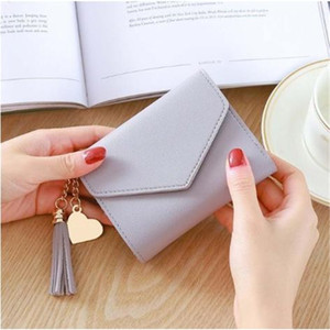 Women Long Wallet with Tassel Quality Leather Cluths Multi-function Ladies' Card Holder Female Coin Purse Wallet