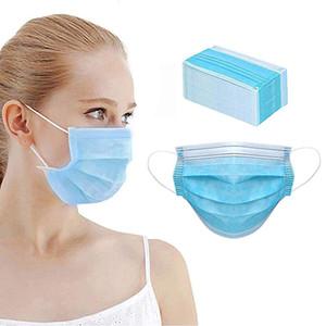 OMC 2000PC / carton Professional Visable Visable Mascara Couvercle de la bouche 3 Couche Protégez un masque 100% réutilisable ou jetable non tissé