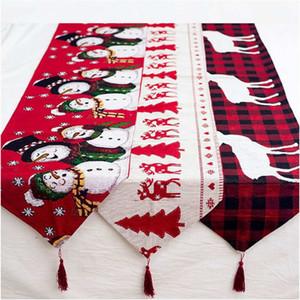 tissu chaud table de Noël Père Noël Red Hat pour le dîner Décor Accueil Décorations Décorations Fournitures Dinner Table Party Décor GWB2069