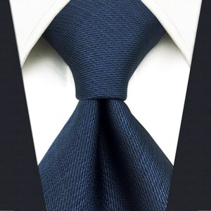 """D20 Navy Solid Mens Necktie Silk Dress Classic Hanky Ties for male Wedding Fashion Extra long size 63"""""""