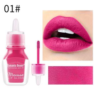 Romantic Beauty Non-stick Cup Liquid Lip Gloss Waterproof And Sweat-proof Matte Lipstick Long-lasting Red Sexy Lip Makeup 72pcs lot DHL