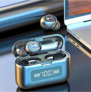 F9 Bluetooth Wireless Earphone LED Display Charging Box 2000mAh TWS Sports Waterproof Earphones Headset Earbuds