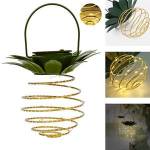 Patio al aire libre impermeable lámpara decorativa para colgar 60Leds piña luces solares Paseo Jardín Decoración camping luces T9I00666