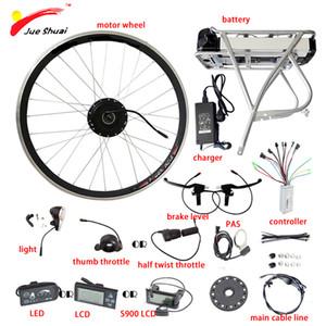 36V 48V Rear Rack Lithium Battery 250W 350W 500W Motor Wheel Electric Bike Conversion Kit LED LCD Display Bicicleta Eletrica