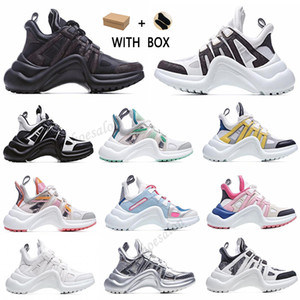 2021 Nova Moda Bloqueio Casual Arquilíbrio Genuíno Pai Sapatos Sapatilhas Sapatos Malha Preto Bóia Respirável Plataforma Popular Stylis Shoes # 52