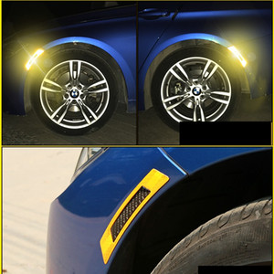 2Pcs Per Set Car Bumper Sticker Reflective Warning Tape Safety Reflective Strips Secure Reflector Stickers Decals