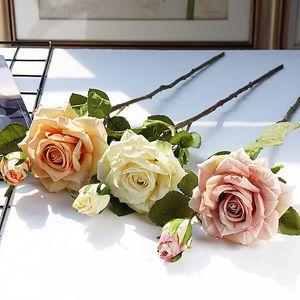 Realistische gewellte Rose Geschenke Tägliches Zuhause Weihnachtsdekorationen Hotel Künstliche Blume Rose Bouquet Hochzeit Platzierung Requisiten VTKY2180