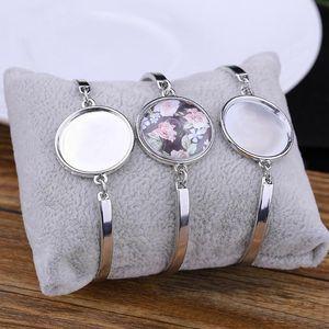 Sublimação Pulseiras em branco para mulheres moda quente transferência de transferência pulseira jóias diy consumíveis novos presentes de festa hh9-3401