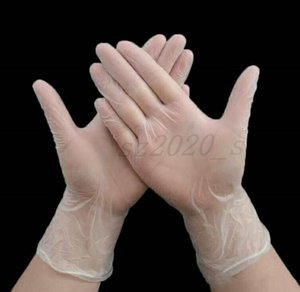The latest 4 sizes, 100 pieces per box, PVC disposable gloves, transparent protective gloves, DHL free shipping