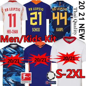 20 21 Leipziges HEE-CHAN قميص كرة القدم جيرسي SFORSBERG WERNER Camiseta RBL OLMO كرة القدم RBL NKUNKU SABITZER RasenBallsport SCHICK جيرسي