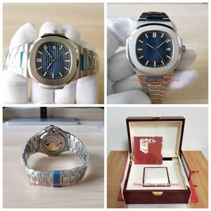 20 Stile classico orologio di alta qualità di 40 millimetri 5711 / 1A 010 / 1R-001 Data polso Asia trasparente meccanico automatico Mens degli uomini di Orologi