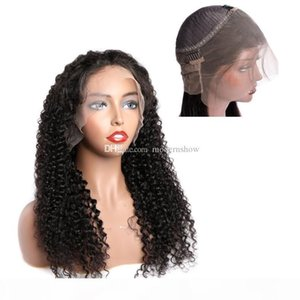 Brazilian Pre Plucked Curly Wave 360 Degree Swiss Lace Frontal Human Hair Wigs With Natural Hairline Virgin Peruvian