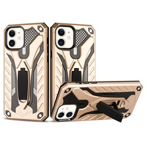For Iphone 12 Mini Luxury Hybrid Armor Shockproof Hybrid Dual Layer Phone Case Cover with Built in Kickstand