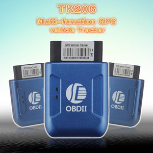 TK206 OBD2 GPS GPRS Real Time Tracker Car Vehicle Tracking System With Geofence Protect Vibration Cell Phone SMS Alarm Alert