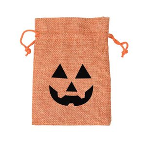 Halloween citrouille fantôme sacs cadeaux sac de rangement de Noël Sucrerie Sacs de jute Sac à cordonnet Wrap Party Creative Oornament Supplies 10 * 14cm KKF1839