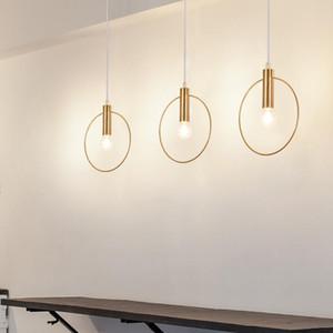 Moderne Pendelleuchte Gold-Rohr-Pendelleuchte aufgerichteten Hängelampe Matel für Esszimmer E14-Leuchten 85-240V