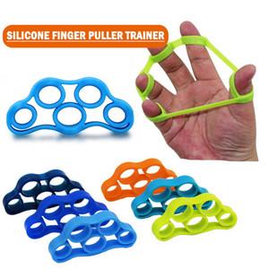 Finger reset elastic strip for driving resistance band