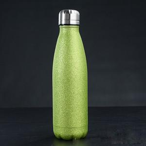 17 oz eau paillettes à double paroi isolé paillettes Cola verre BPA sport en métal Bouteille beau navire de mer Revêtement Étincelle EEE2631