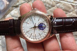 3 relojes de estilo para hombres Steel Rose Gold Mechanical 2813 Watch Men's Cellini 50535 Esmalte de cuero MOONPHASE FECHA MOUNTAS DE MONTAJE