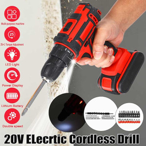 3 in 1 20V Cordless Screwdriver Cordless Drill Impact Electric Drill Power Tools Hammer Electric Hand+1 2 Battery
