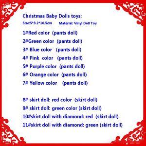 5*3.2*10.5cm Christmas Baby Elf Dolls Baby Elves Toys Mini Elf Xmas Decoration Doll Kids Toys Gifts Little Dolls Vinyl Doll Toy HH9-3567