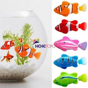 5 Adet / takım Robot Elektronik Balık Yüzmek Oyuncak Pil Dahil Çocuklar Için Robotik Pet Oyuncak Balıkçılık Dekorasyon Gerçek Balık Gibi Yasası 201212