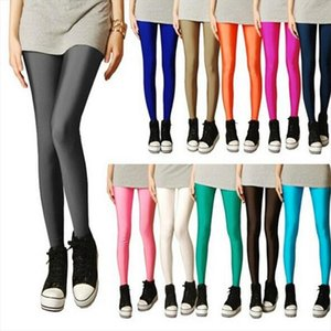 New Spring Solid Candy Neon Leggings Women High Stretched Female Legging Spandex Pants Girl Clothing Leggins Plug Size