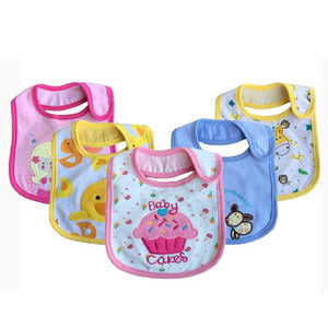 15pc lot Baby Bibs Pattern Toddler Baby Waterproof Saliva Towel Cotton Fit 0-3 Years Old Infant Burp Cloths Feeding