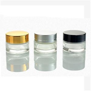 5G / 5 ml 10g / 10 ml Kozmetik Boş Kavanoz Pot Makyaj Yüz Kremi Konteyner Şişe Siyah Gümüş Altın Kapak ve İç Pad HWC3517