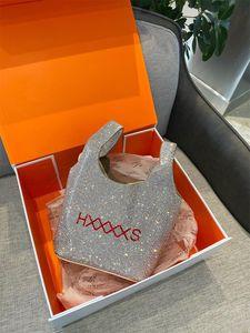 Designers do Reino Unido Luxurys Brands HXXXXS Inglaterra Moda Mulheres Bolsas Bling Diamante Sacos Ins Tendência Venda Quente de Alta Qualidade Engraçado Silver Sacola