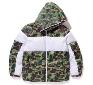 Winter Herren Design Jacke Mode Camouflage Daunenjacken Mantel mit Muster Herren Parkas Trendbrief Druck Streetwear S-3XL