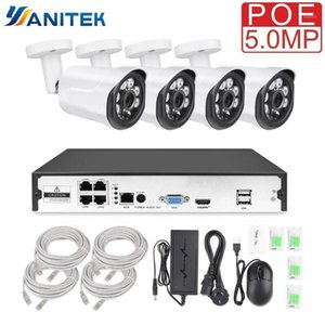 Yanitek 4CH CCTV Surveillance Kit HD H.265 5MP 4MP 3MP Outdoor Security Camera System with 4PCS POE IP Camera Video System P2P1