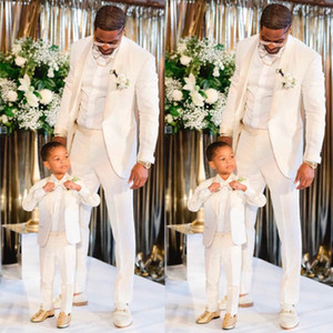 Discount Ivory Slim Fit Wedding Tuxedos Shawl Lapel One Button Men's Suit for Prom Party Groom Wear