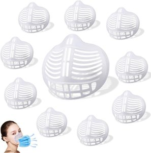 3D Face Bracket Face Inner Support Frame Made Of Soft Silicone Face Holder For Comfortable Breathing Washable Reusable FWE2476